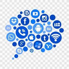 social media logos. blue social media icons logos l