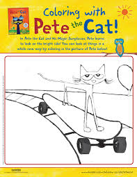 Pete The Cat And His Magic Sunglasses Coloring Pete The Cat