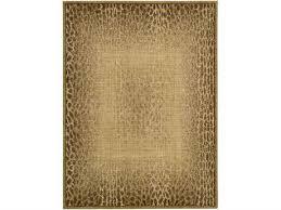 radiant impressions rectangular beige area rug