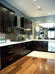 gray kitchen walls with blue cabinets bluish espresso and wall paint colors white black countertops