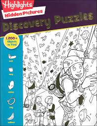 Hidden image in picture puzzle with answer. Hidden Pictures Discovery Puzzles Highlights For Children 9781620917695