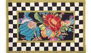 artistic mackenzie childs rugs at mackenzie flower market rug 2 x 3