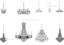 chandeliers dwg cad blocks free