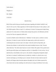of mice and men reaction essay example emily johnson h english 2 pages catcher reaction essay example