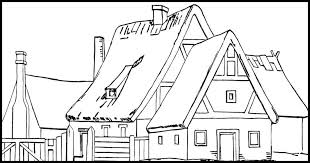 Lots of house coloring pages for free! House Coloring Pages Karen S Whimsy