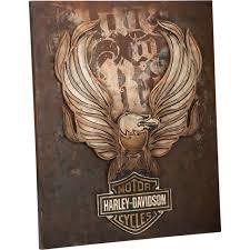 harley davidson live to ride eagle 3d metal wall art limited hdl 15510