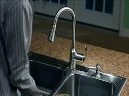 moen arbor with one handle pull down kitchen faucet at motionsense