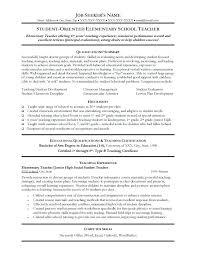 Resume Formats For Teachers Resumes For Teacher Teacher Resume New Resumes For Teachers