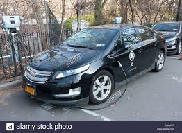 A Chevy Volt hybrid electric car, used by the New York City Parks ...