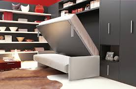 view in gallery murphy bed sofa unit with horizontally folding double bed
