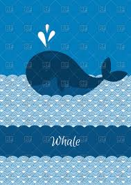 blue whale in the cartoon sea vector image vector ilration of plants and s to zoom