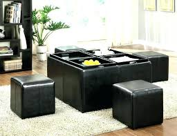 leather ottoman tray leather storage ottoman with trays storage tray ottoman storage tray ottoman leather storage