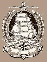 тату пиратские корабли татуировка стиль пиратский корабль в Crest