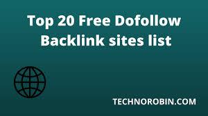 Top 20 Free Dofollow Backlink sites list