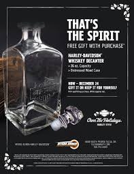 free gift with purchase harley davidson whiskey decanter