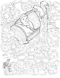 rock a bye baby nursery rhyme coloring page
