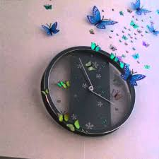 diy wall clock decoration