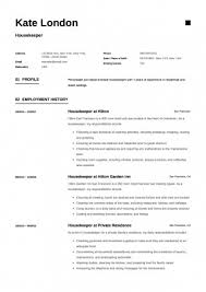 Free Work Resume Template Unique Housekeeper Resume Samples Free Housekeeping Sample R Great Of