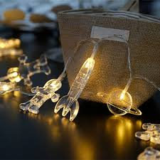 Astronaut String Lights Us 2 71 20 Off 1 5 3 M Outer Space Astronauts Spaceship Rocket Mars Led String Lights Baby Shower Christmas Birthday Party Wedding Decor In Night