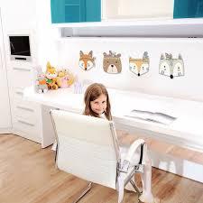 nursery room decor nordic fox bear 3d