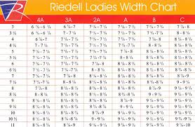 Riedell Boot Size Chart Riedell Roller Skates Size Chart