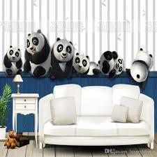 Wonderful 3D Stereo Custom Children Room Mural Male Girl Bedroom Sofa Backdrop Cute Panda  Wallpaper Mural