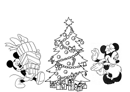Mickey Christmas Colouring Pages Minnie Mouse Coloring And In 998