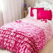 hot pink ruffle twin bedding designs