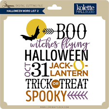 12 halloween word sets perfect for adding decoration to halloween ornaments, signs and more. Halloween Word List Lori Whitlock S Svg Shop