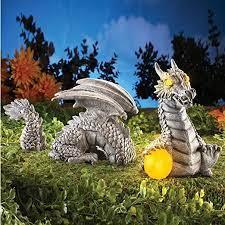 solar dragon garden sculpture