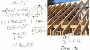 2x4 Ceiling Joist Span Chart How To Calculate The Length Of Roof Rafters Captioned