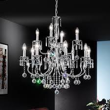 modern chrome crystal chandelier