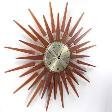 ... Excellent Nelson Wall Clock George Nelson Sunburst Clock Brown Wall  Clock Design Like Star ...