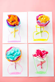 How To Make Flower Out Of Tissue Paper How To Make Tissue Paper Flower Cards With Video