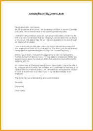 How To Write A Maternity Leave Letter For Work Example Letter To Request Maternity Leave Tripevent Co