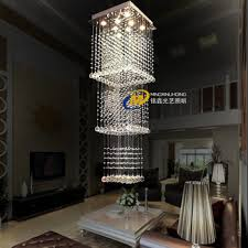 get ations minimalist modern crystal lamp chandelier spiral staircase lights floor of the living room floor lamps