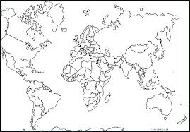 Map Coloring Treasure Coloring Page Map Coloring Pages Continents