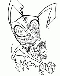 Small Picture Halloween Coloring Pages Free Printable Scary Coloring Home