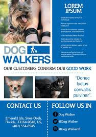 Dog Flyer Template Free Dog Walking Flyer Template Free 183 Best A5 Promotional Flyers