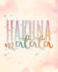Hakuna Matata Disney Lion King Inspirational Quote Digital Download Jpeg