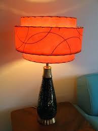 orange lamp shade lighting