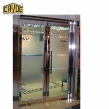 Aluminum Double Swing Door Stores Front Door Designs