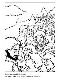 Kleurplaat Jezus Kinderen Willem De Vink
