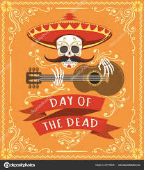 Latino Graphic Designers Mexican Dead Day Poster Latino Mexico Halloween Day Party