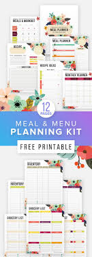 Free Printable Meal Planner & Fitness Planner