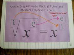 converting between radical form and rational exponent form my  my algebra 2 students have moved into logarithm territory so i guess it s best time i post the rest of our interactive notebook pages regar