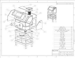 por mechanics plans homemade sandblasting cabinet blueprints scribd