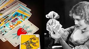 riderwaite tarot deck and vilma bnky with cards