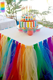Tulle-Skirted Party Table.
