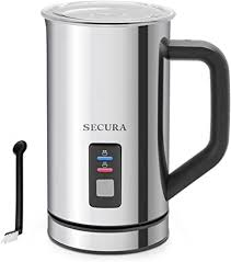 Secura <b>Milk Frother</b>, <b>Electric</b> Milk Steamer Hot & Cold Foam Maker ...